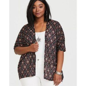 TORRID Black Geo Knit Cardigan